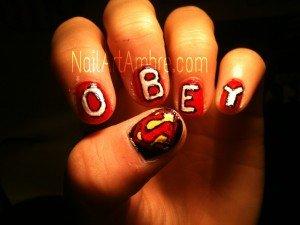 OBEY Nail Art dans Nail art image3-300x225